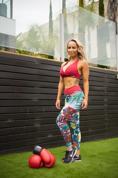 Booty Day Gym Leggings – Tropics Range - Be Activewear