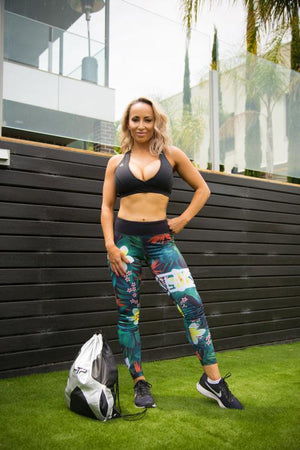 Slay Everyday Leggings - Tropics Range - Be Activewear