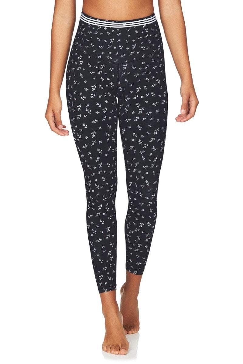 Om High Rise 7/8 Yoga Pants in Navy Floral - Be Activewear