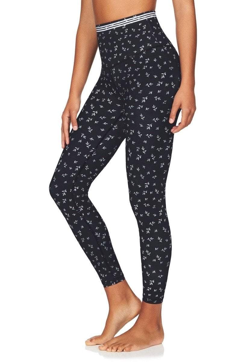 Kula Athletic Compression tights XXS Om High Rise 7/8 Yoga Pants in Navy Floral