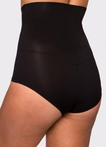 Micro Fiber Shaping High Waist Brief with Silicone - Black - Be Activewear