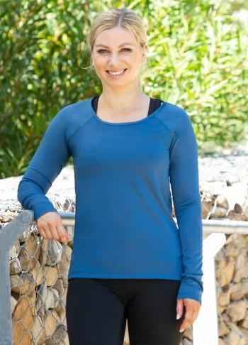 Ruched Long Sleeve Tee - Be Activewear