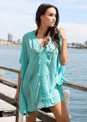 lasculpte Tanks Mint Lace Kaftan