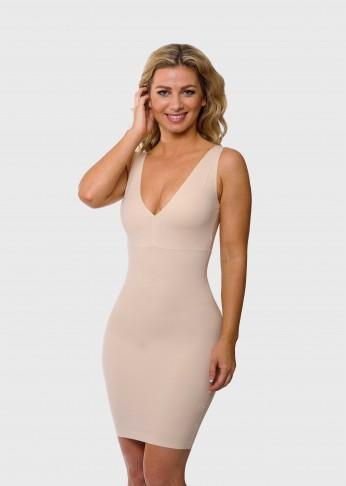 2 Way Reversible Shaping Scoop V-Neck Slip - Nude - Be Activewear