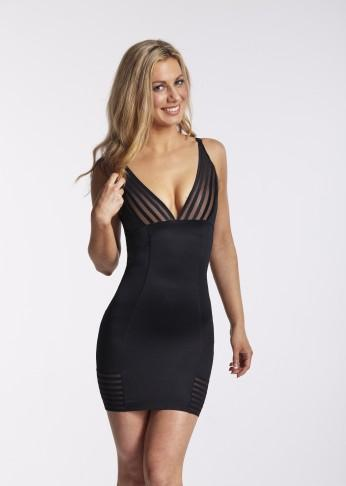 Plunging Shaping Slip With Multiway Straps - Black - Be Activewear