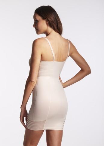 Plunging Shaping Slip With Multiway Straps - Nude - Be Activewear
