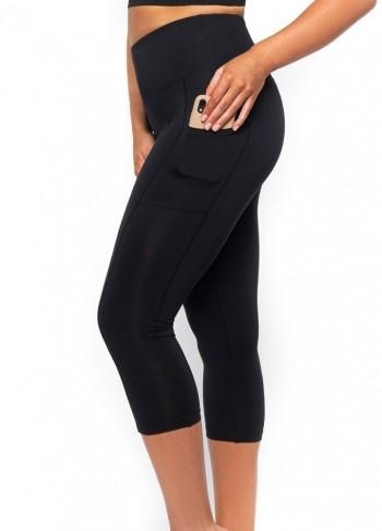 Recycled 3/4 Shaping Legging w Phone Pockets - Be Activewear