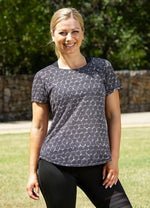 Black Spot Burnout SS Tee - Be Activewear