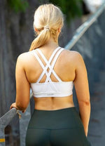 Classic Strappy Sports Bra - White - Be Activewear