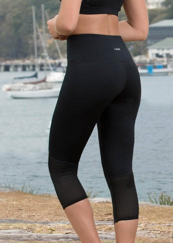 Antimicrobial Crop Legging - Black - Be Activewear