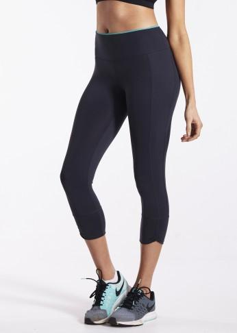 Contrast Trim Shaping Crop Tight - Be Activewear