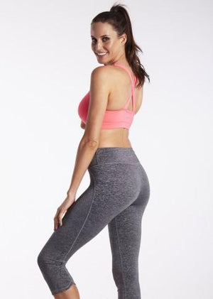 lasculpte Track Pants Shaping Charcoal Marl Crop Tight