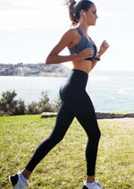 Shaping F/L Tight with Mesh Insert - Black - Be Activewear