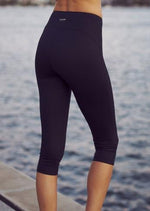 Slimming Compression Crop Tight - Black - Be Activewear