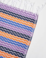 Sardinia Towel Purple, Orange, Blue - Be Activewear