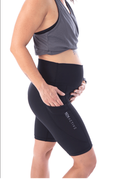 MKM AVA BIKE SHORT WITH POCKETS - BLACK - Be Activewear