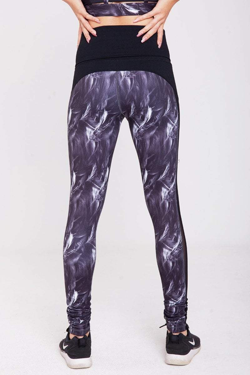 Full length Pregnancy/Postpartum Leggings w/mesh panel - Feather Touch - Be Activewear
