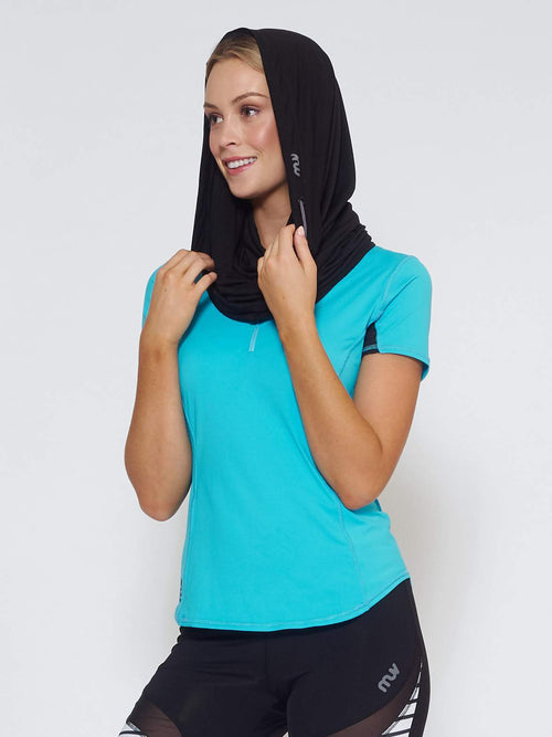 ECLIPSE Sun Hood/Scarf - Black - Be Activewear