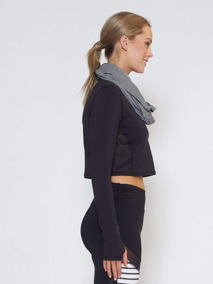 ECLIPSE Sun Hood/Scarf - Grey - Be Activewear