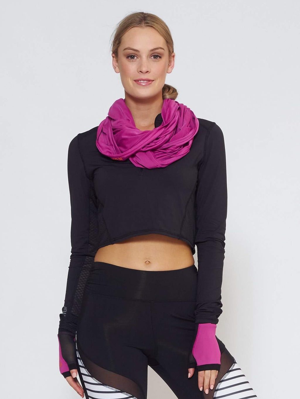 ECLIPSE Sun Hood/Scarf - Purple - Be Activewear
