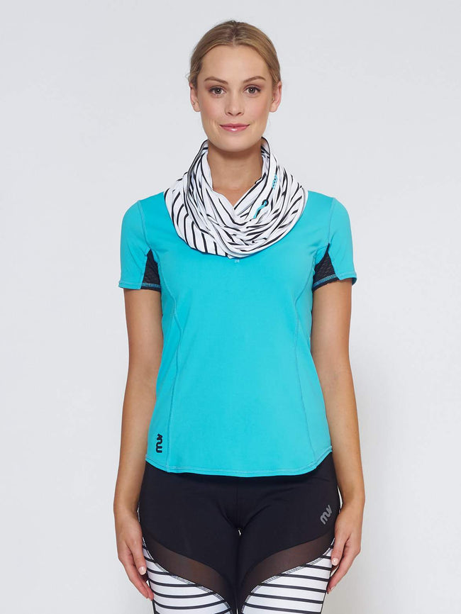 ECLIPSE Sun Hood/Scarf - Stripe - Be Activewear