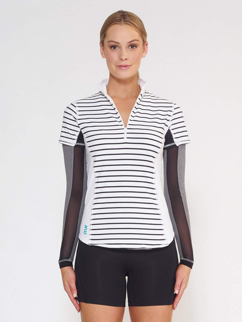 FLARE MUV Tube Sleeve With Mesh - Grey - Be Activewear