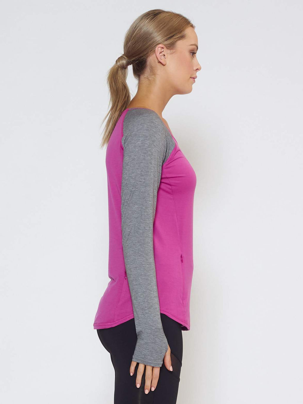 DRIFT Long-Sleeve Top - Purple - Be Activewear