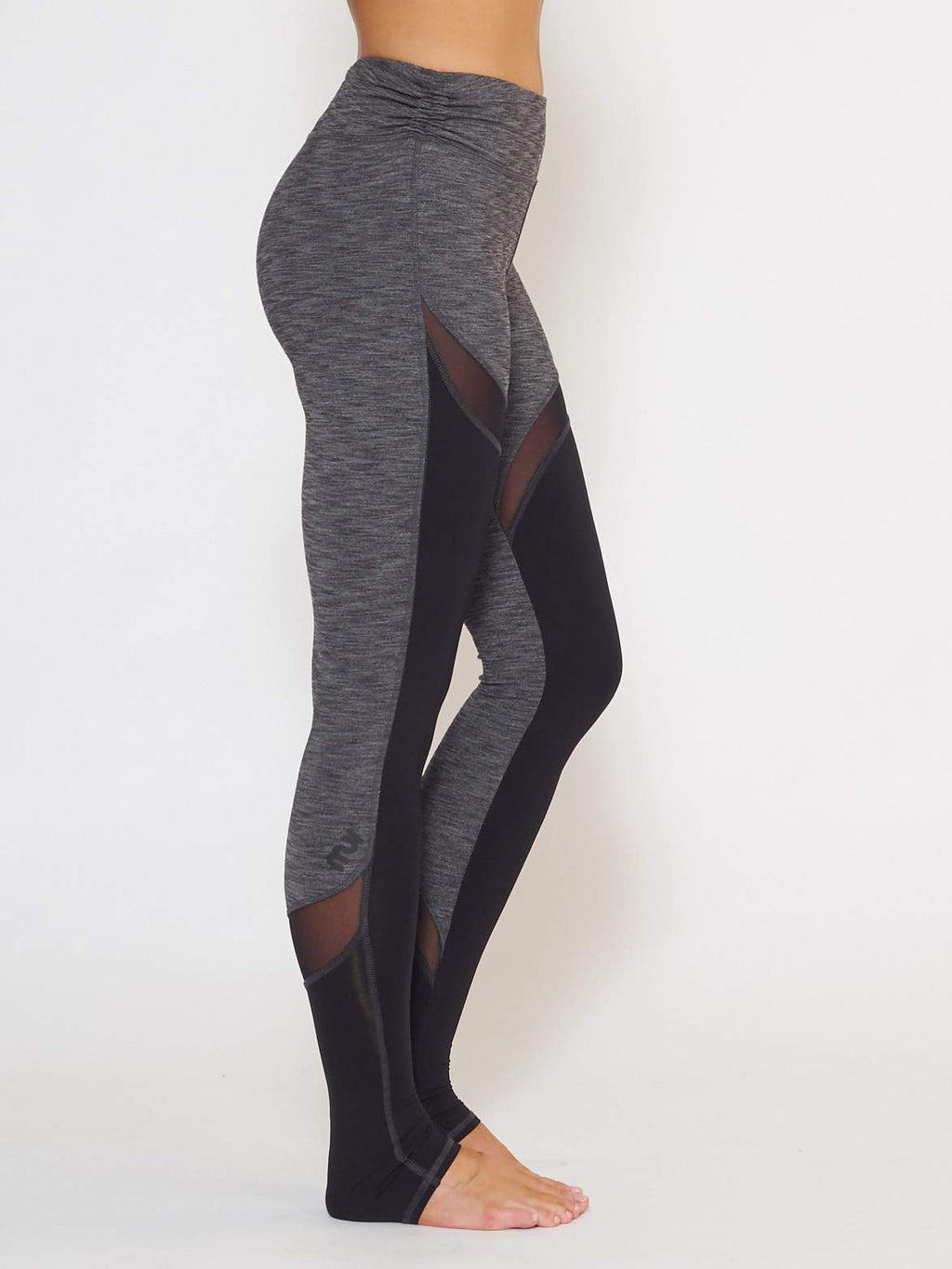 MUV Sportswear Long Sleeve Top GALE Full-Length Legging - Steel