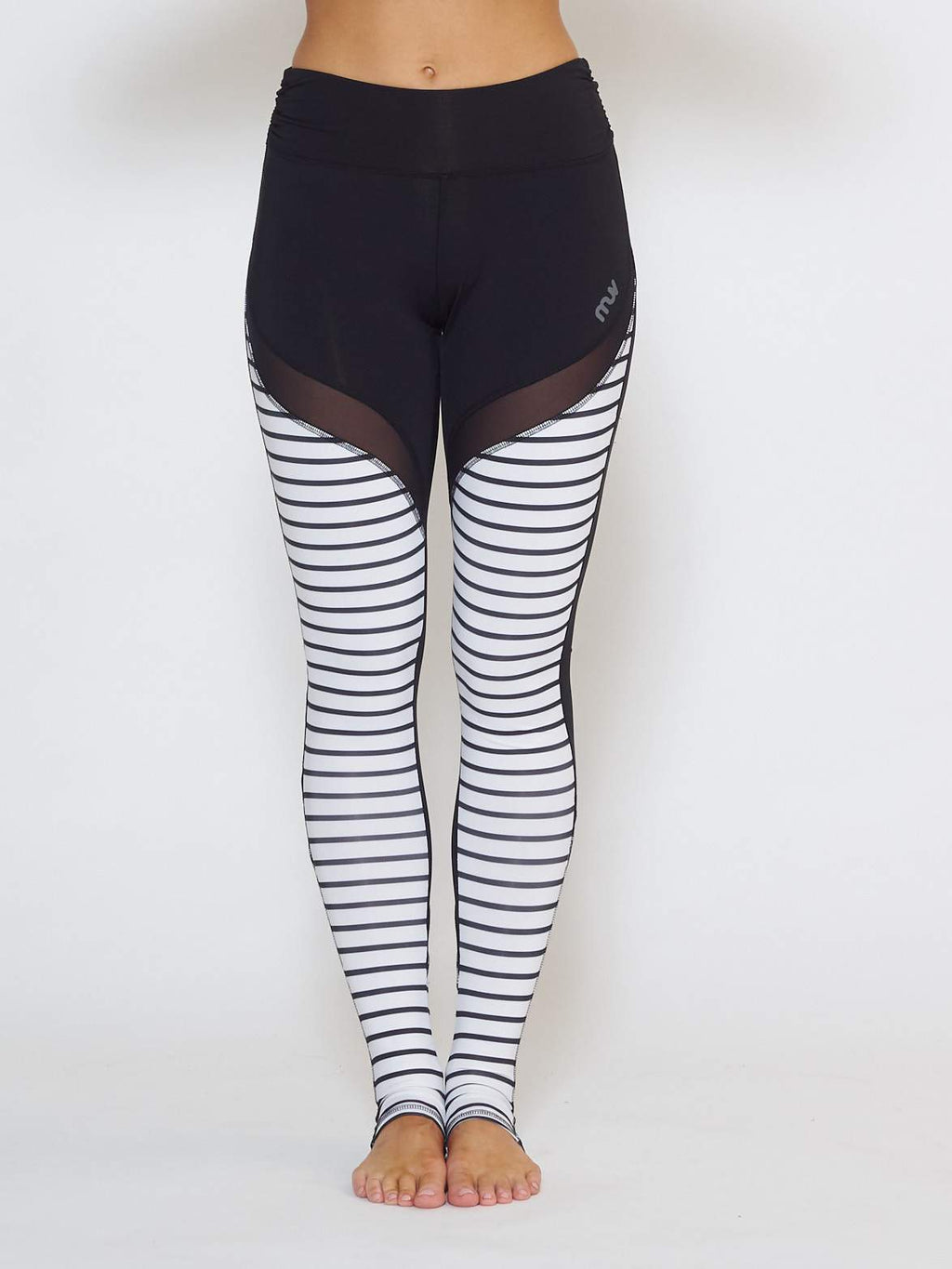 MUV Sportswear Long Sleeve Top GALE Full-Length Legging - Stripe