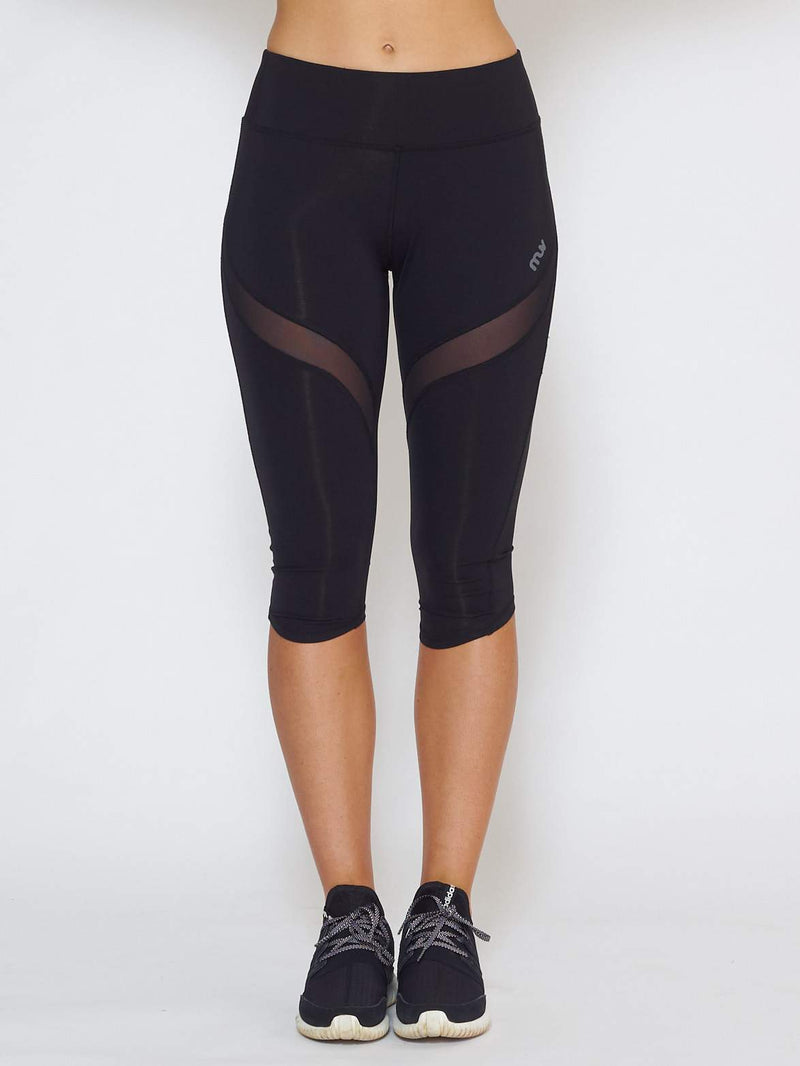 IGNITE Knee-Length Legging - Black - Be Activewear