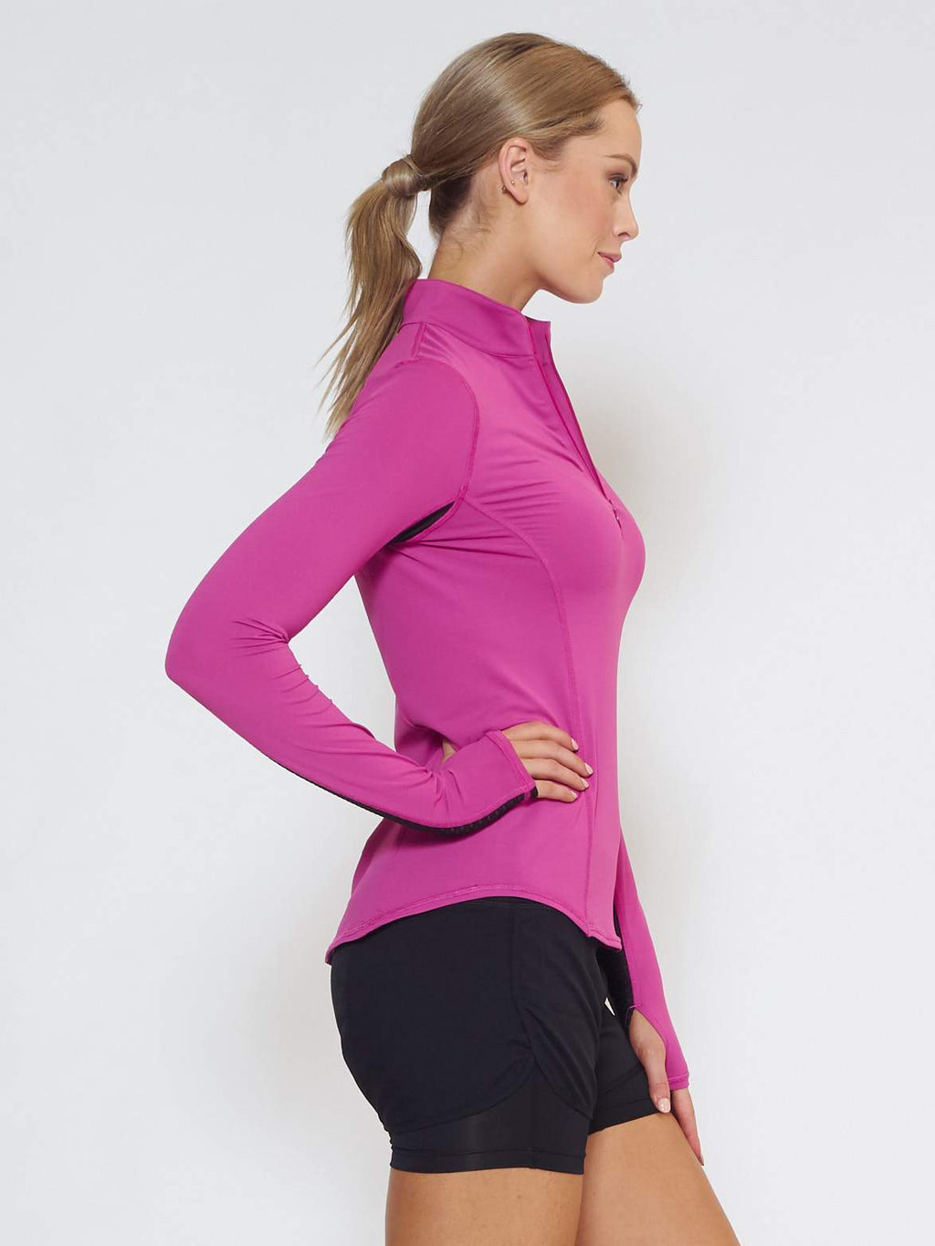 MUV Sportswear Long Sleeve Top LIQUID Long-Sleeve Collared Shirt - Wild Purple