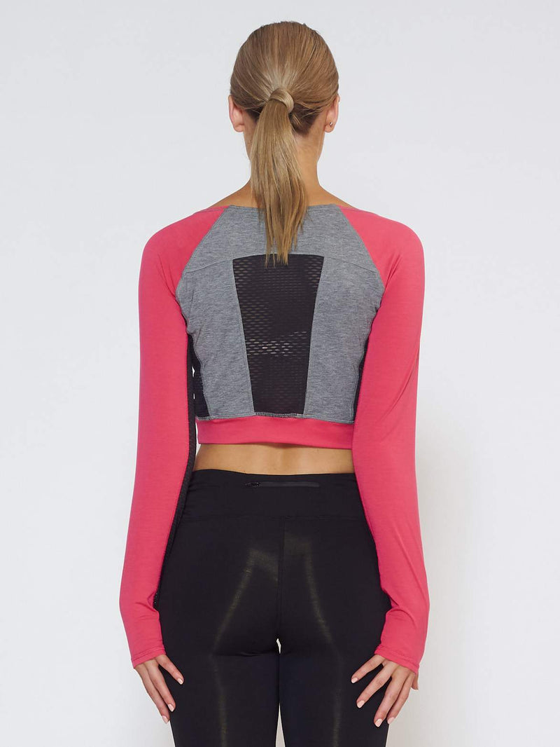 MUV Sportswear Long Sleeve Top VENT Long-Sleeve Crop - Azalea