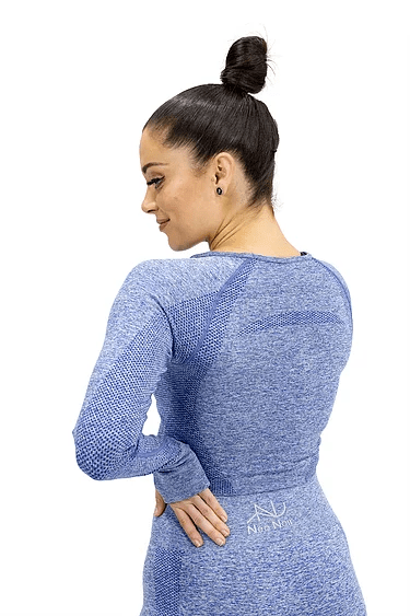 SEAMLESS LUXURY CROP - BLUE - Be Activewear