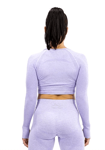 SEAMLESS LUXURY CROP - PURPLE - Be Activewear