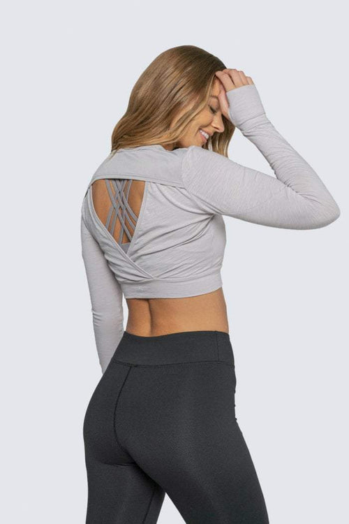 EASY BREEZY LONG SLEEVE GREY - Be Activewear