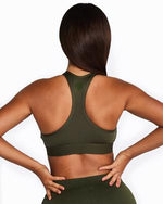 Racerback Crop Top - Khaki - Be Activewear