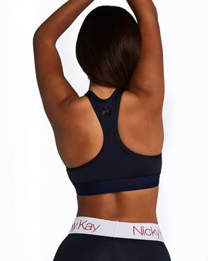 Racerback Crop Top - Navy - Be Activewear