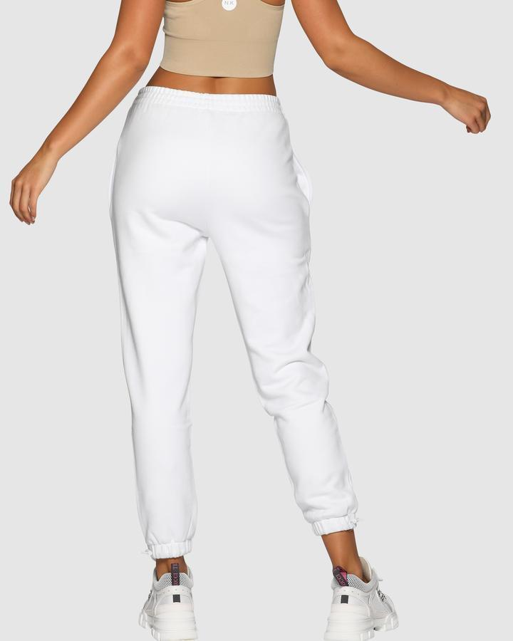 High Rise Pants - White - Be Activewear