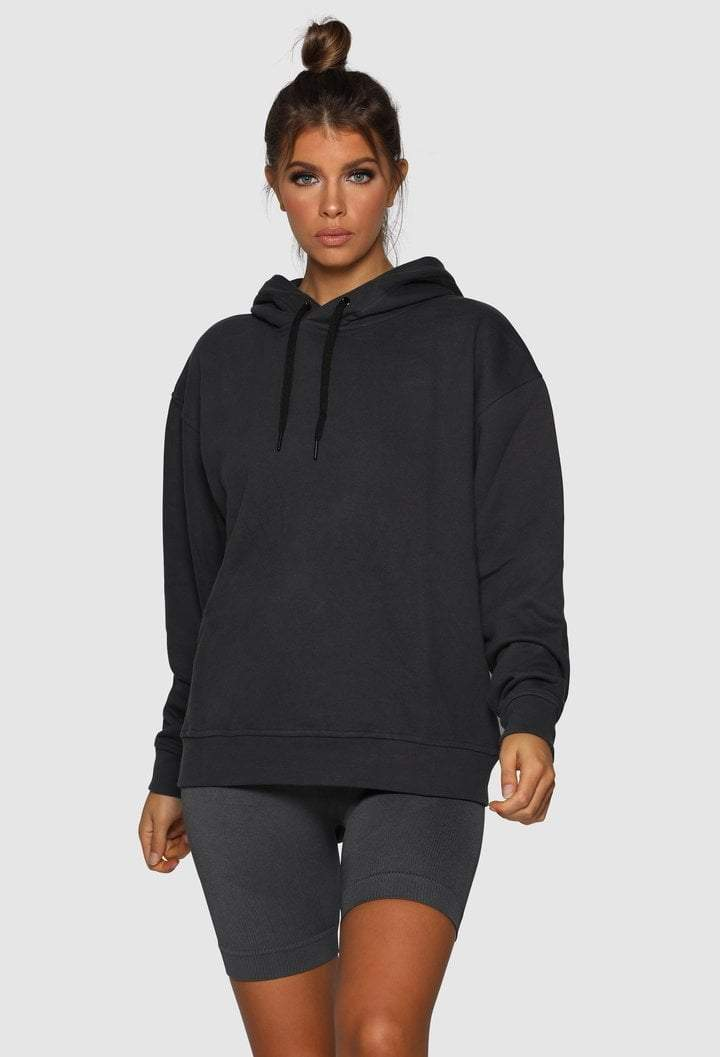 Nicky Kay branded hoodie - Oversized - Charcoal - Be Activewear