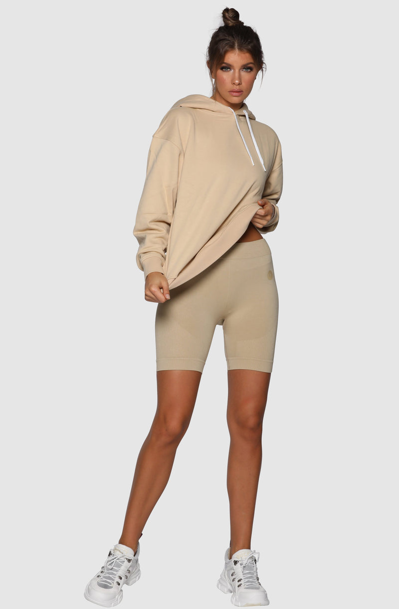 Nicky Kay branded hoodie - Oversized - Cream - Be Activewear