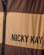 Kay Two Tone Jacket (Brown) - Be Activewear