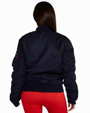 Reversible Bomber Jacket: Navy + Red - Be Activewear