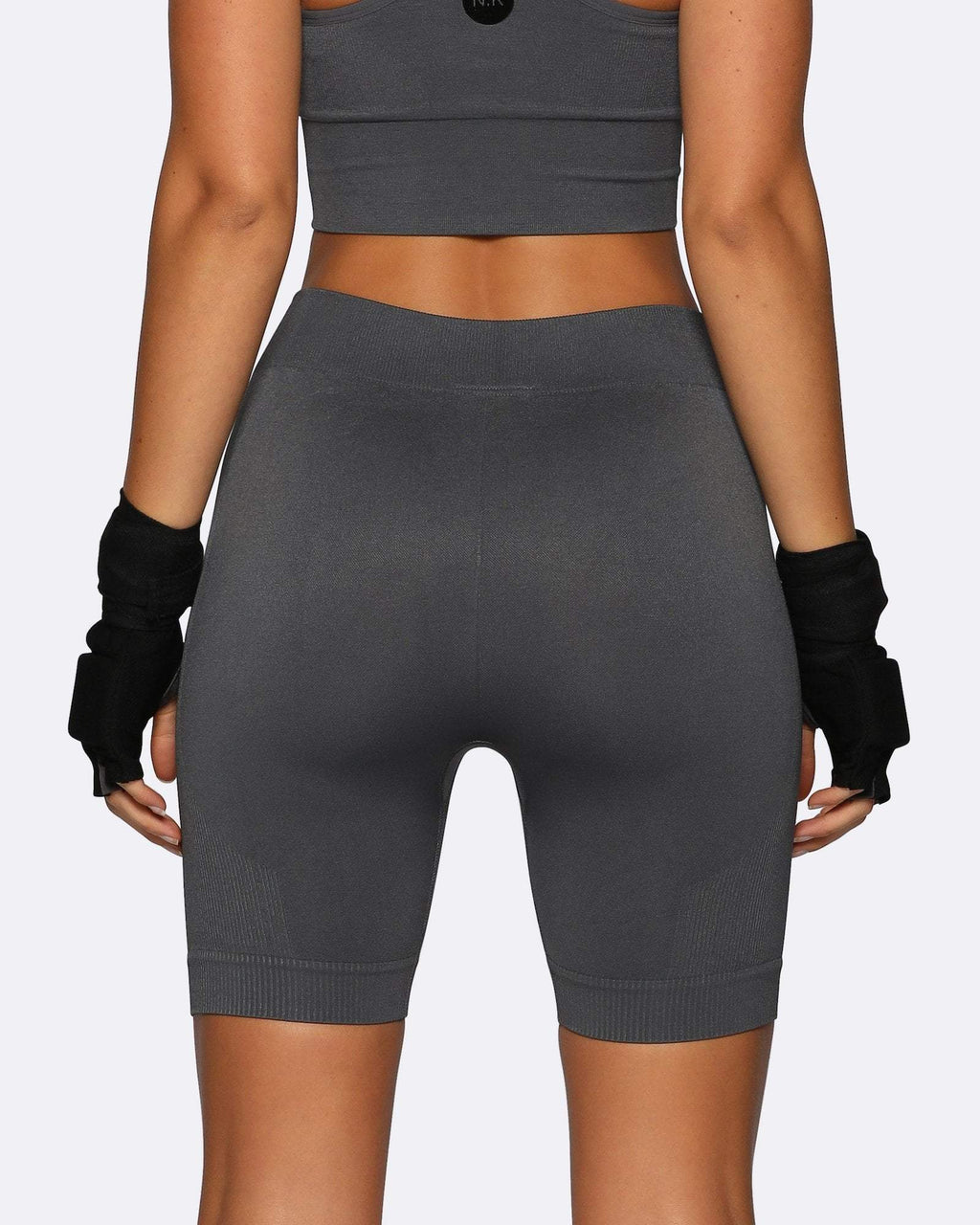 Seamless Bike Shorts - Charcoal - Be Activewear