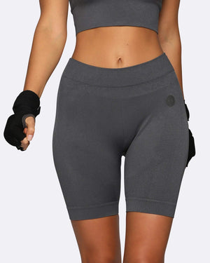 Nicky Kay Shorts Seamless Bike Shorts - Charcoal
