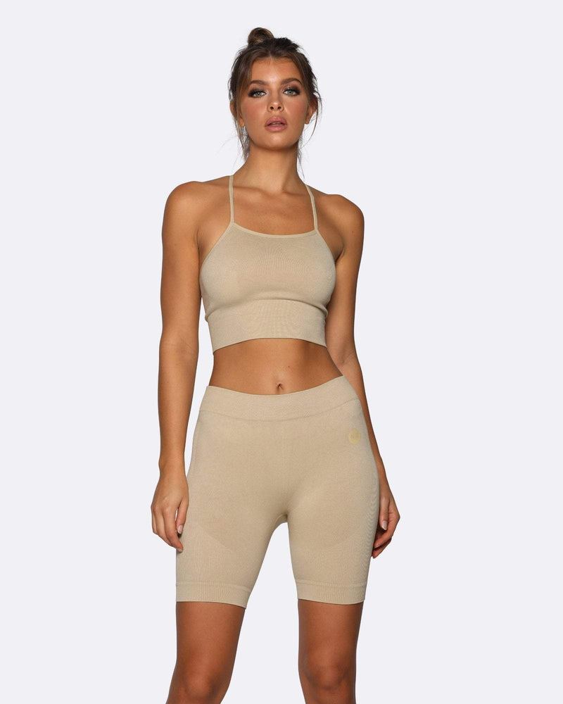 Nicky Kay Shorts Seamless Bike Shorts - Creme