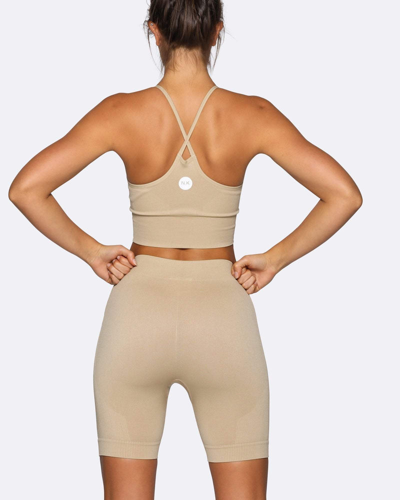 Seamless Bike Shorts - Creme - Be Activewear
