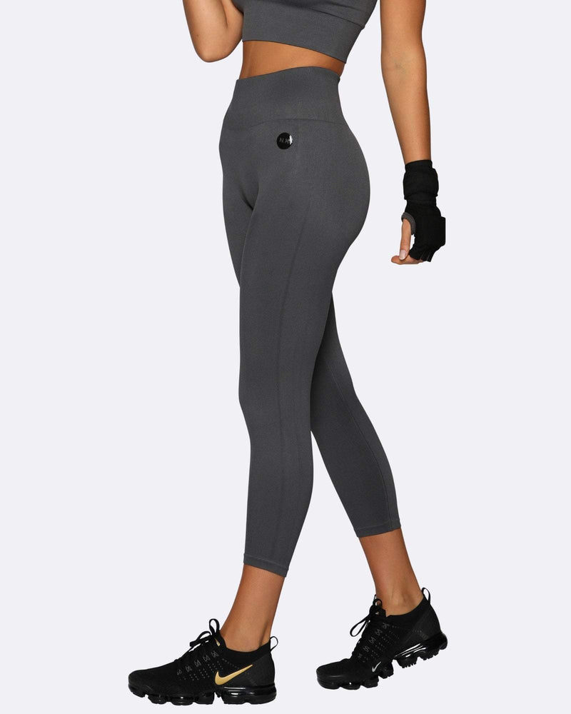 Seamless Tights - Charcoal - Be Activewear