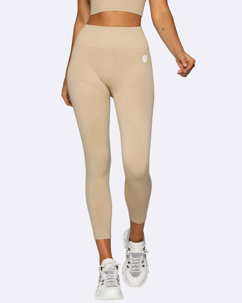Seamless Tights - Creme - Be Activewear