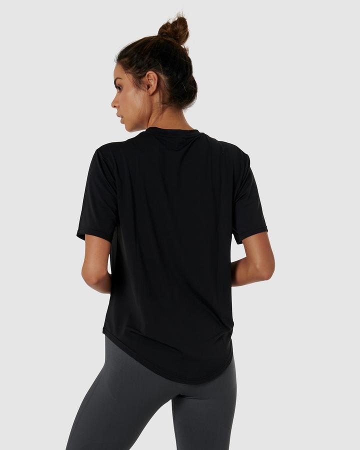 QuickDry Logo Tee - Black - Be Activewear