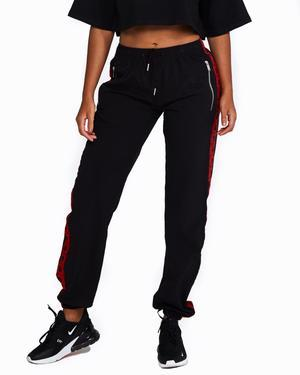 Logo Track Pants - Black and Red - Be Activewear